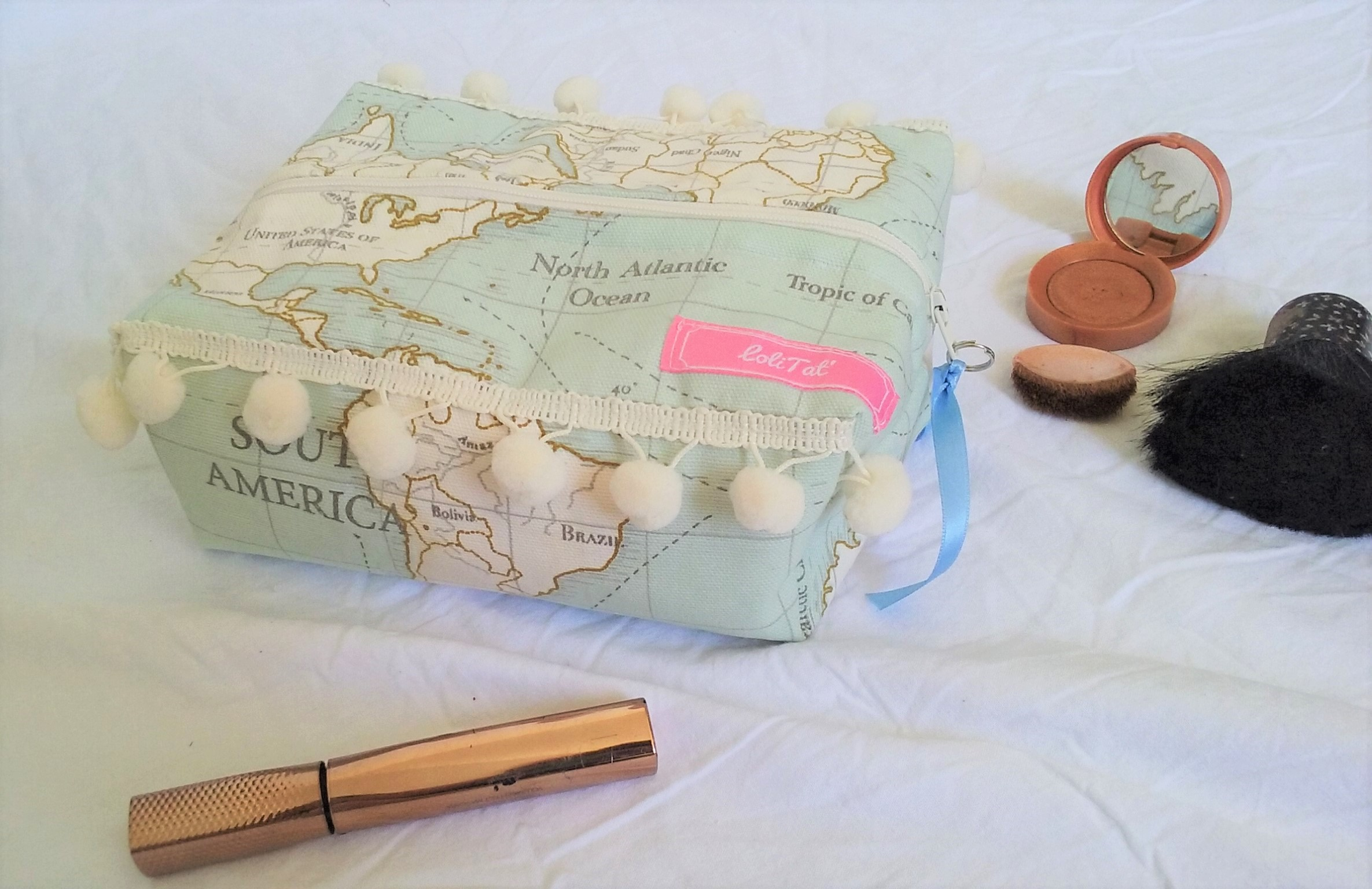 trousse de toilette faite main en france LoliTat couture